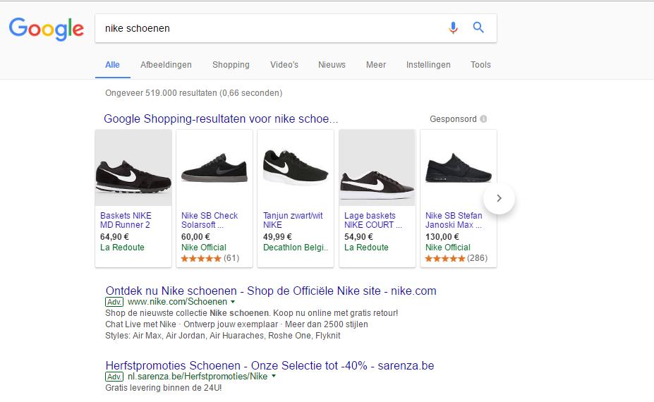3bbb51aa695f6b Er zijn 3 verschillende vormen die je kan gebruiken in Google om je product  of webshop te promoten:
